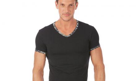 Tee shirt col v homme en matière bio