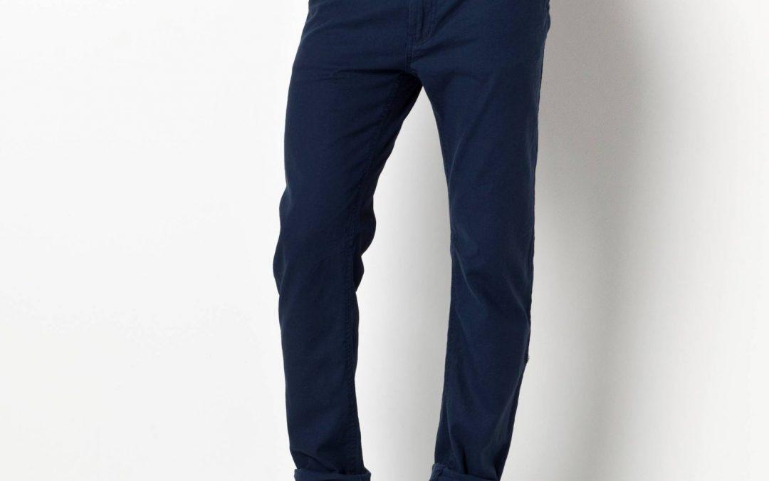 Pantalon bleu homme en toile